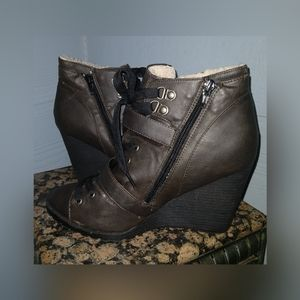 Chocolate colored Candie's booties 8